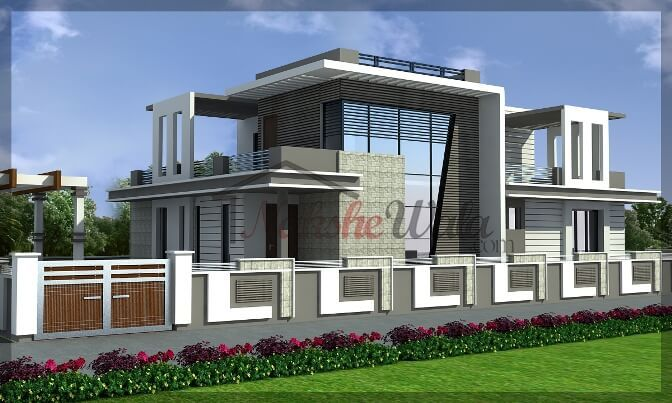 1609luxurious house design archi design for Compound home plans