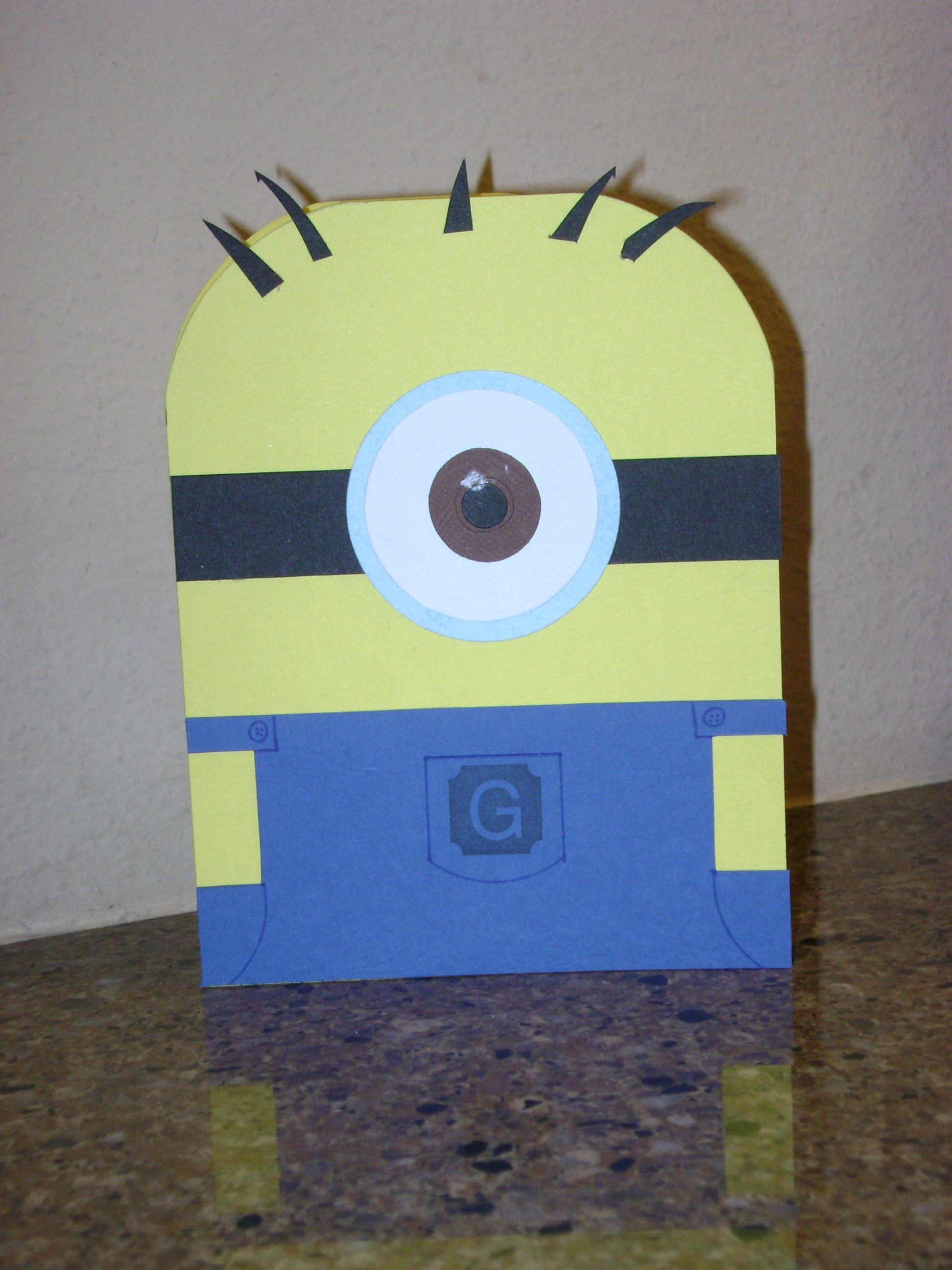 A minion i made for a boys birthday card handmade cards a minion i made for a boys birthday card bookmarktalkfo Image collections