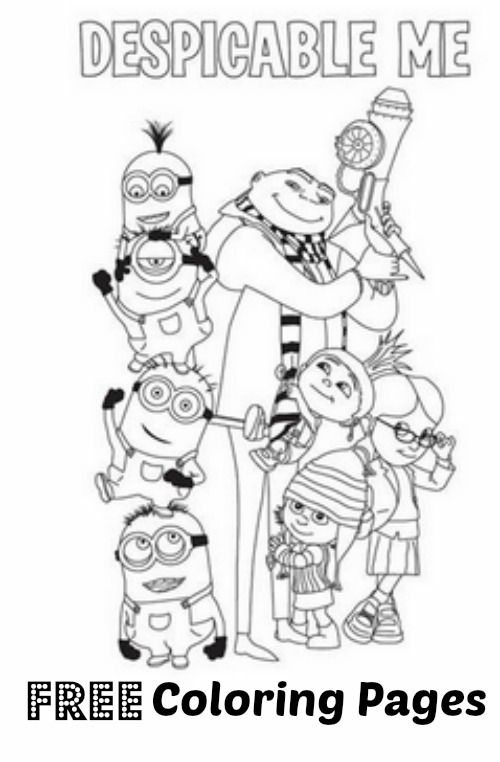 FREE printable Despicable Me Coloring Page Round up  Freebies