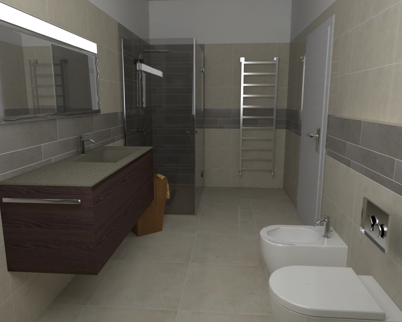 Project 3 by l'Alternativa Srl, tiling by #Supergres, bathroom furniture by #Idea Group, view it here http://bit.ly/1DagpSS
