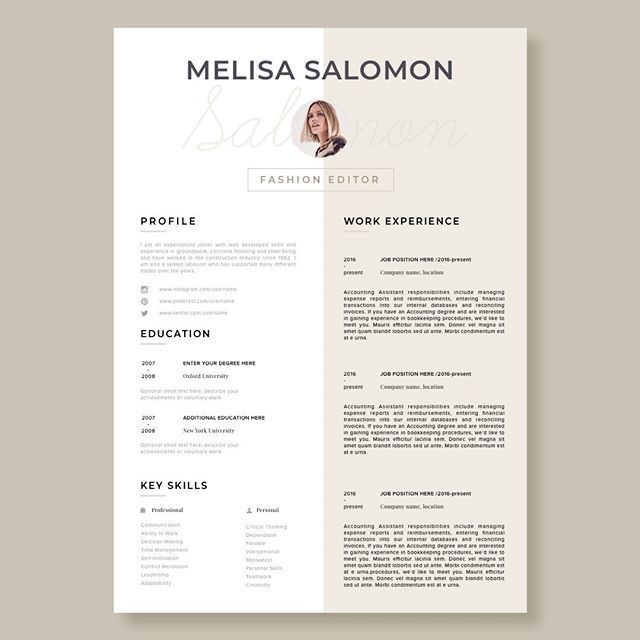 Resume Template CV Template Resume CV design Teacher resume - word resume template mac