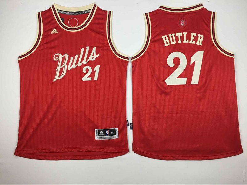$20.5 Adidas Chicago Bulls #21 Jimmy Butler Red 2015 Christmas NBA ...