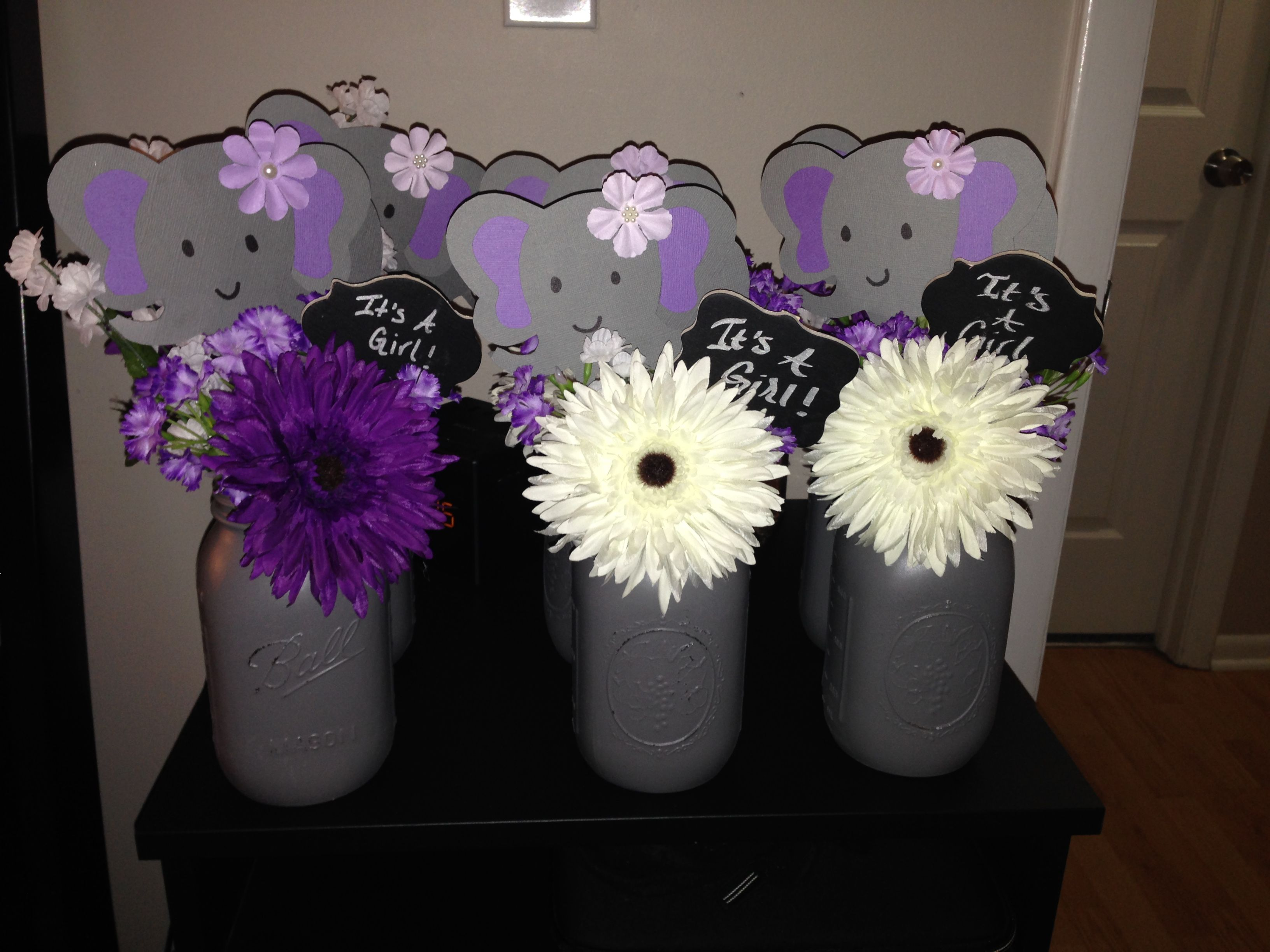 Elegant Elephant Centerpieces Baby Shower
