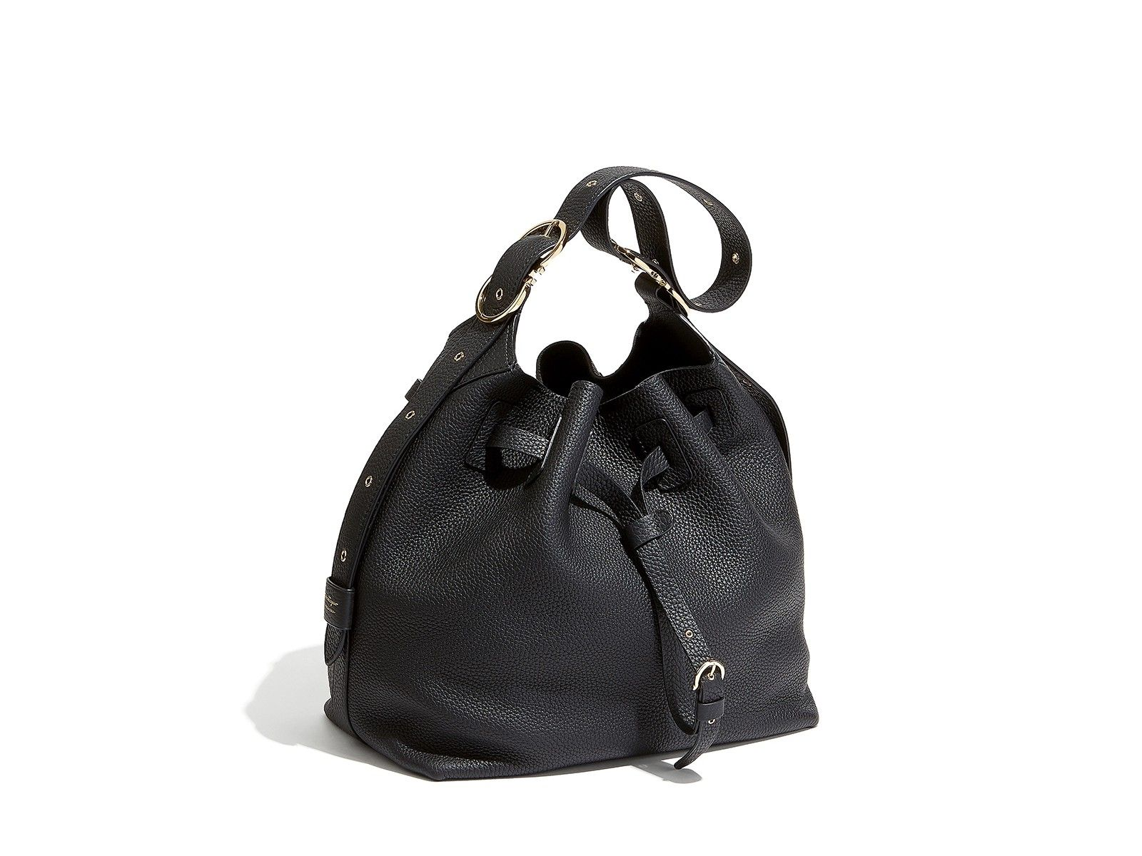 SALVATORE FERRAGAMO Large Drawstring Bucket Bag.  salvatoreferragamo  bags  shoulder  bags  bucket eaf786565552a