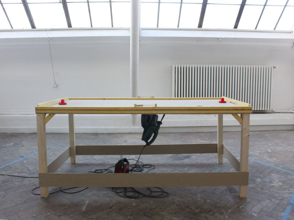 DIY Air Hockey Table Small Space, Table Games, Game Tables, Room Ideas,