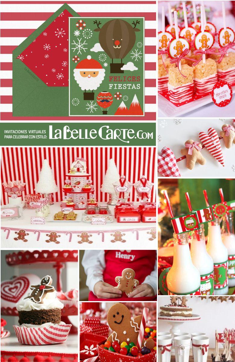 Fiesta De Navidad De Decoracion De Galletas De Jengibre