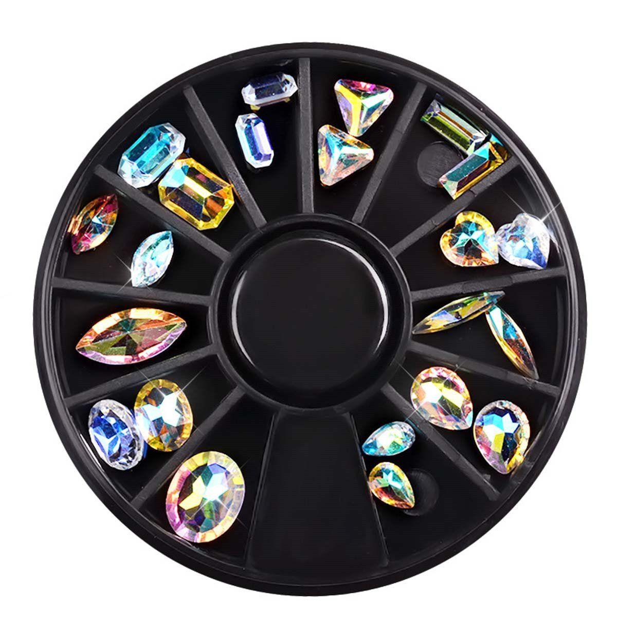 Diy Nail Ideas Doc Martens Nail Art And More Of Our: Mezerdoo 5 Wheels Mixed Glitter Colorful Nail Art Tip Nail