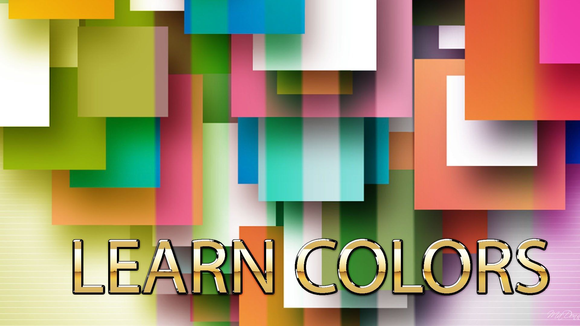 Colors and their names | Red,green,orange | Learn colors for ...