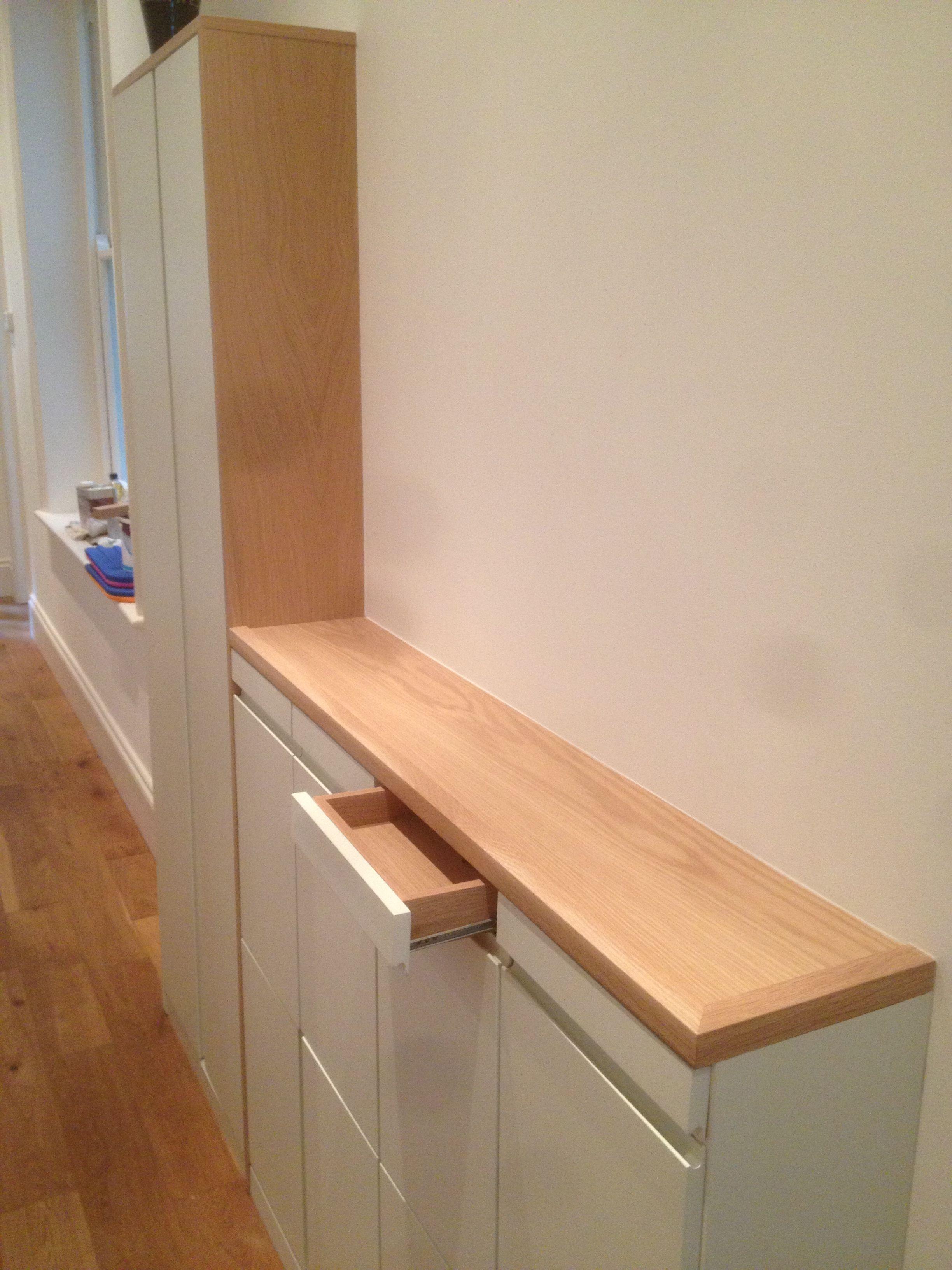 Slim Hallway Storage Unit By Fine Balance Carpentry