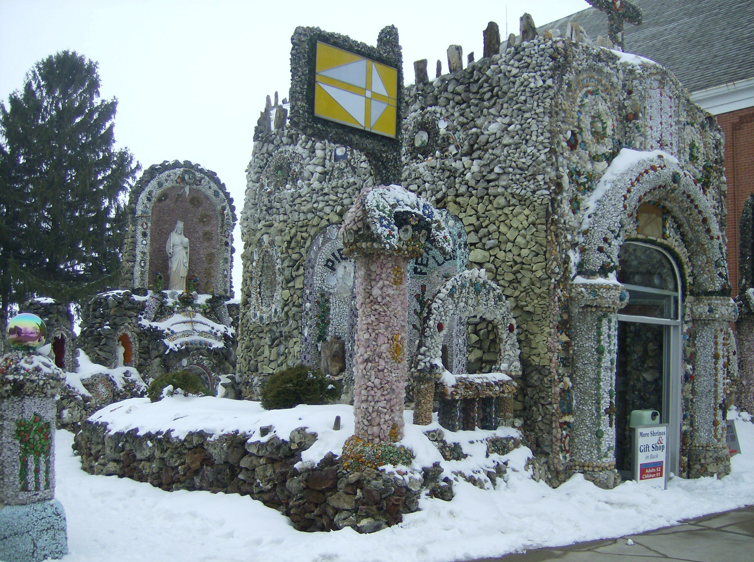 the dickeyville grotto though not as mysterious is an amazing