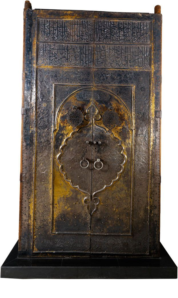 Inscribed Gilt Silver On Wood Door Of The Ka Ba Ca 1635 This Massive Wooden Door Was Donated To Mecca By The Turkish Ottoman Sulta Kaba Mecca Islamic Art