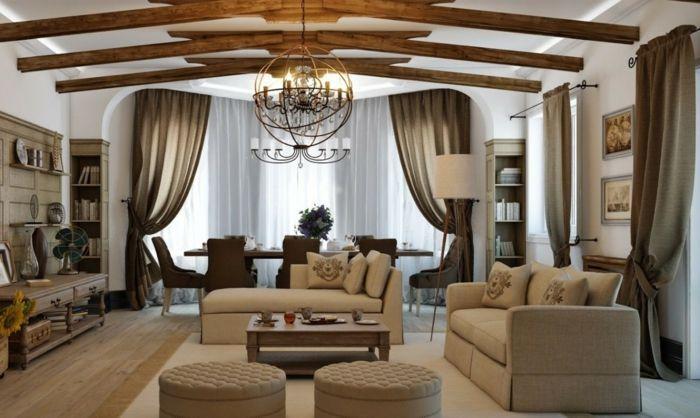 Wohnzimmer Ideen Modern Grossartiges Zimmer Beige Und Braun Vorhange