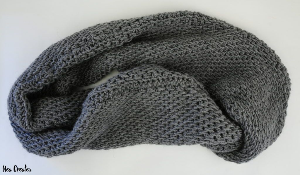 Tunisian Full Stitch Infinity Scarf Free Tunisian Crochet Pattern