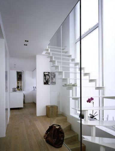 Schöne Wandideen für Räume Schmale Wand unterteilt offen Wohnraum