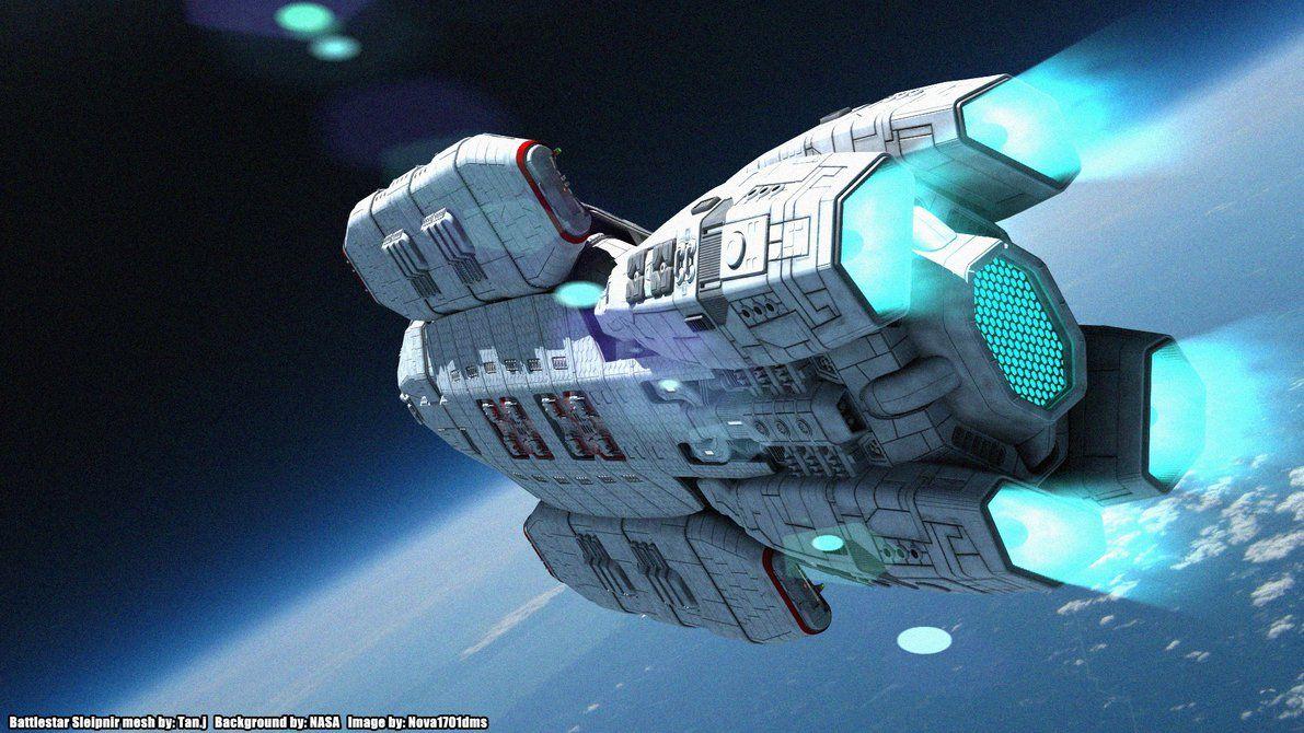 A Cruising Battlestar Sleipnir by Nova1701dms on DeviantArt (BSG Battlestar Galactica)