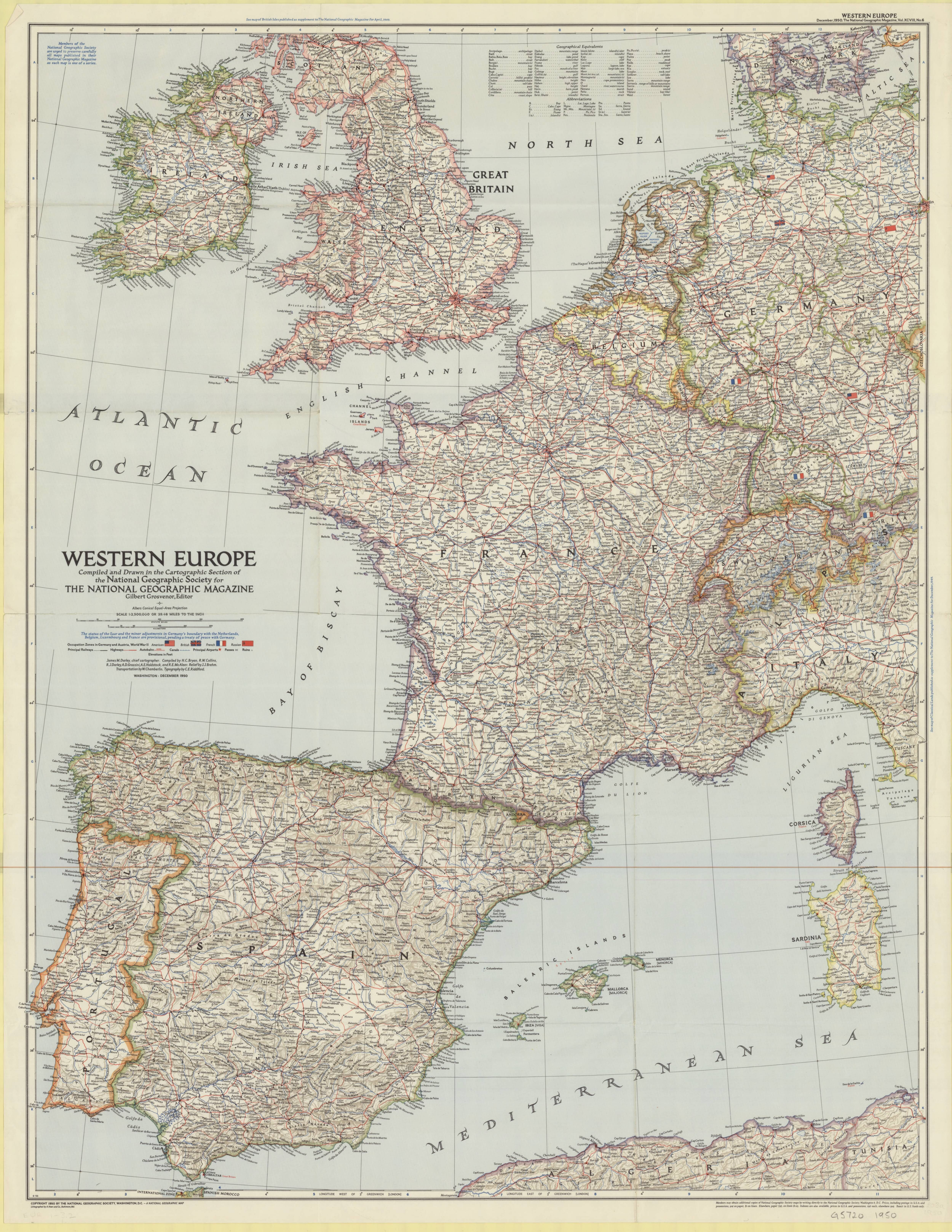 1950 map of western europe showing occupation zones in germany and 1950 map of western europe showing occupation zones in germany and austria in world war ii gumiabroncs Choice Image