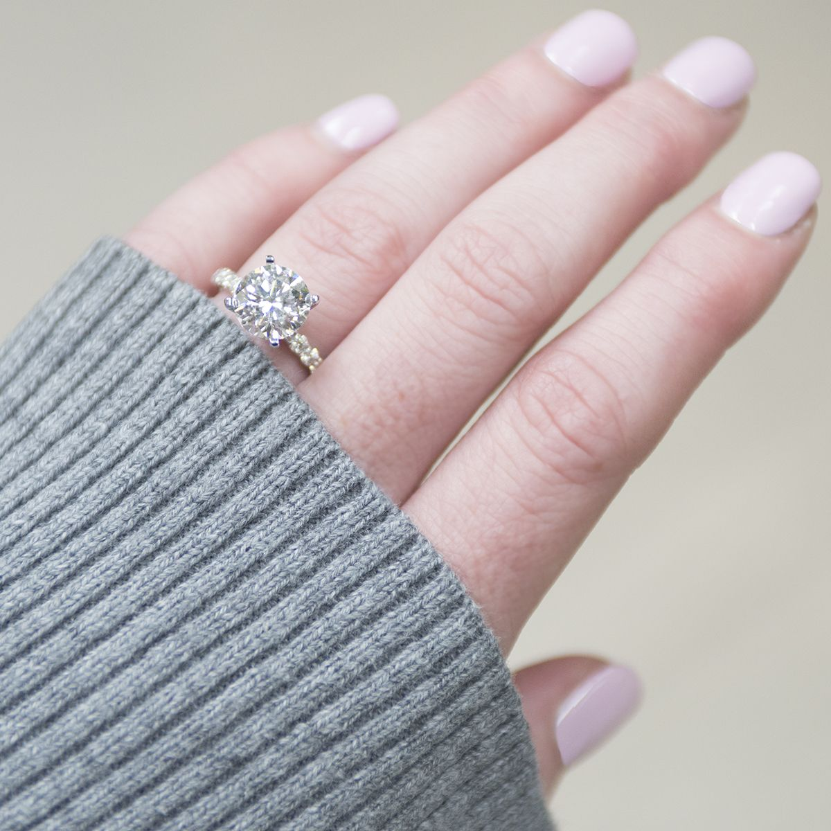 Even When It S Gloomy Outside This Timeless Engagement Ring Will