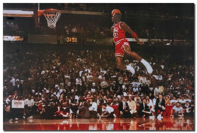 59d7cd630071  11.24 - Michael Jordan Famous Foul Line Dunk Vintage Sport Poster 24X36