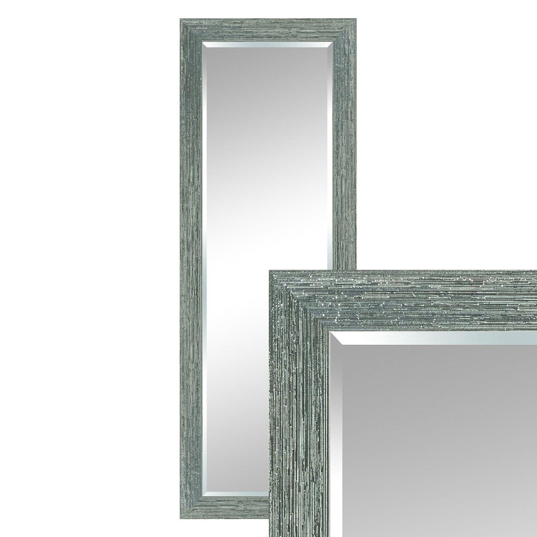 Wandspiegel Spiegel Modern Silber 163 X 63 Cm Gebursteter Rahmen
