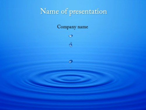 Dripping Water Powerpoint Template Powerpoint Templates