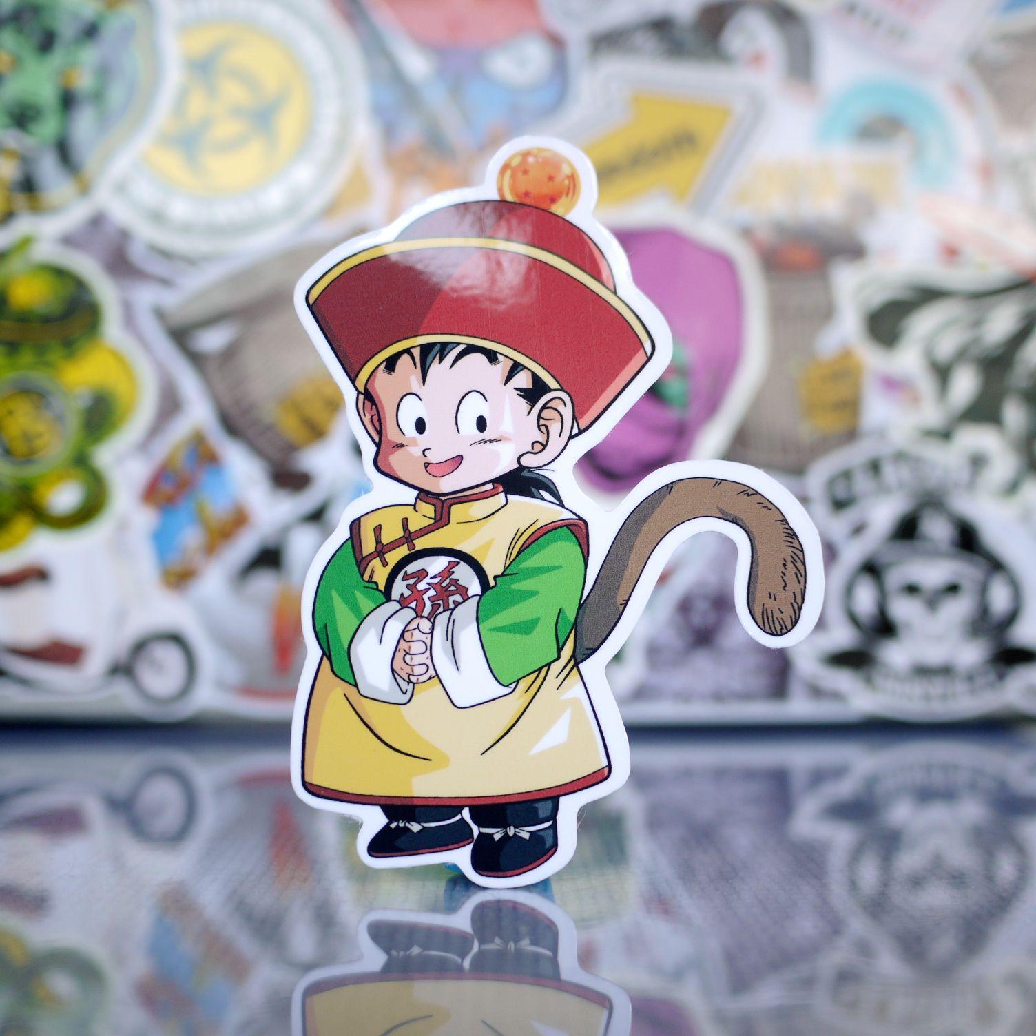 Dragon Ball SON GOKU in Chinese Costume Sticker   Skateboard ...
