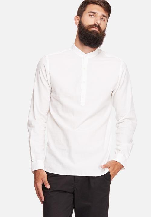 71d86c8a185b Kevin slim tunic shirt - white Jack   Jones Premium Shirts
