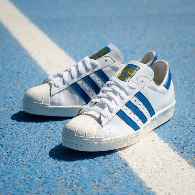 adidas superstar 80s white blue