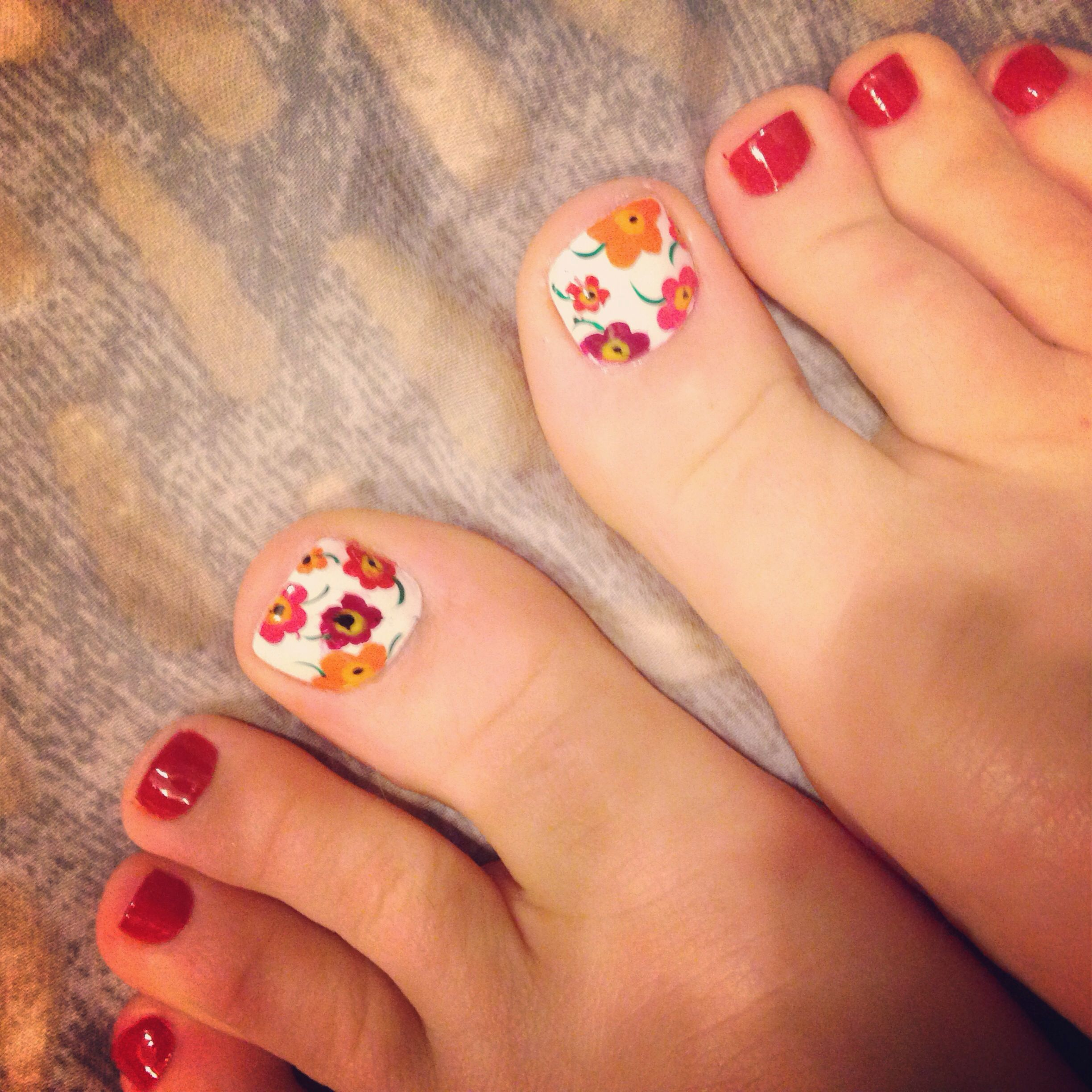By Nikki Nails in Ames, IA. Flower Pedicure. Flower Pedi. Summer ...