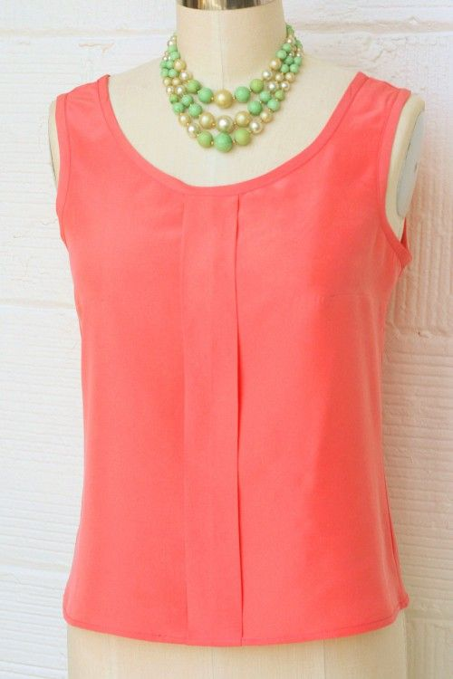 The sorbetto top | Coletterie | Oberteil - Schnittmuster | Pinterest ...