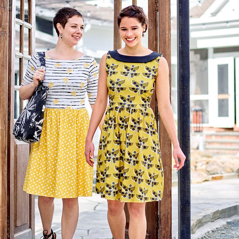 Moneta Dress by Colette Patterns   Colette patterns, Third and Fabrics