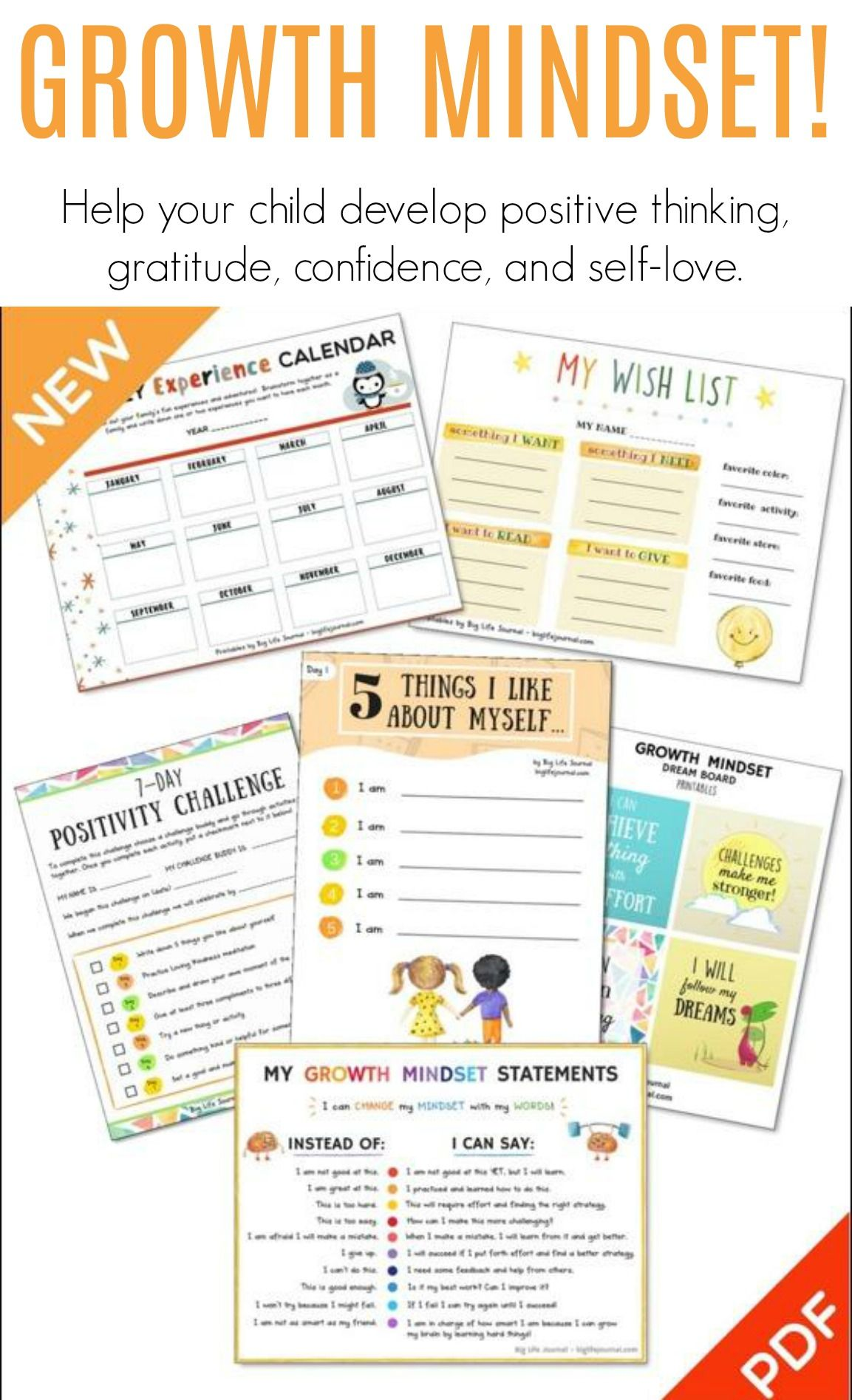 Growth Mindset Printables This Is A Set Of 30 Printable