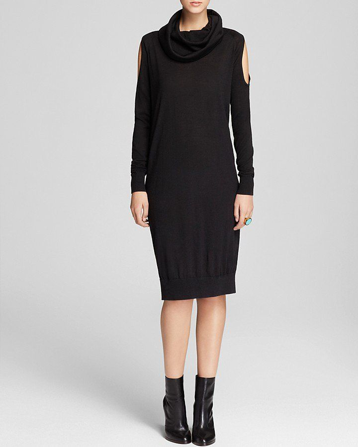 649094d398 Pin for Later  Not-Your-Average Sweater Dresses For Not-So-Average Girls  The Cold Shoulder Sweater Dress DKNY Cowlneck Cold Shoulder Dress ( 235)