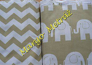 Textil - Sloník - bavlnená látka - 4354171_