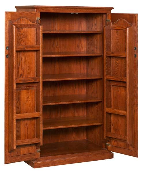 Charming Amish Solid Oak Furniture Pantry | View More Furniture By This Craftsman  Plus Prices, Styles