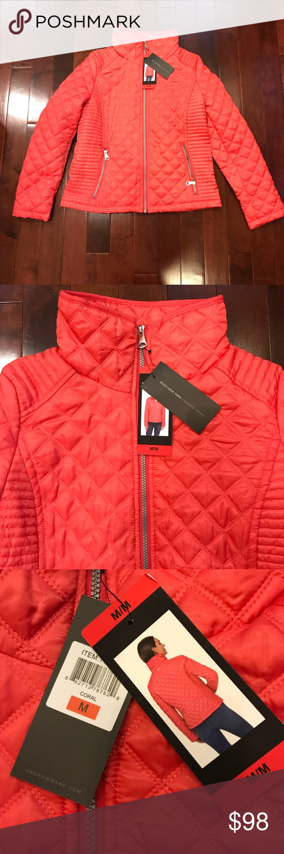 Nwt Marc New York Andrew Marc Coral Puffer Jacket Marc New York Puffer Jackets Clothes Design [ 1740 x 580 Pixel ]