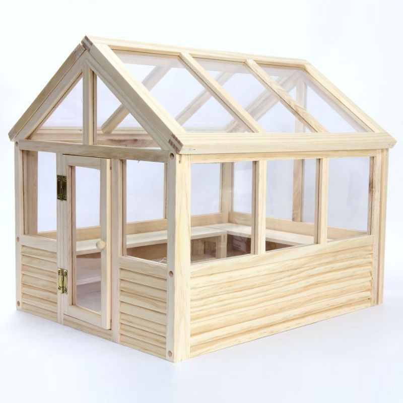 Dh533 wooden greenhouse kit 112 scale from bromley