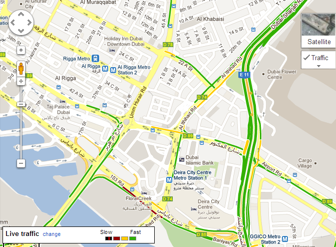 Uae gets live traffic updates on google maps technology in uae gets live traffic updates on google maps sciox Image collections