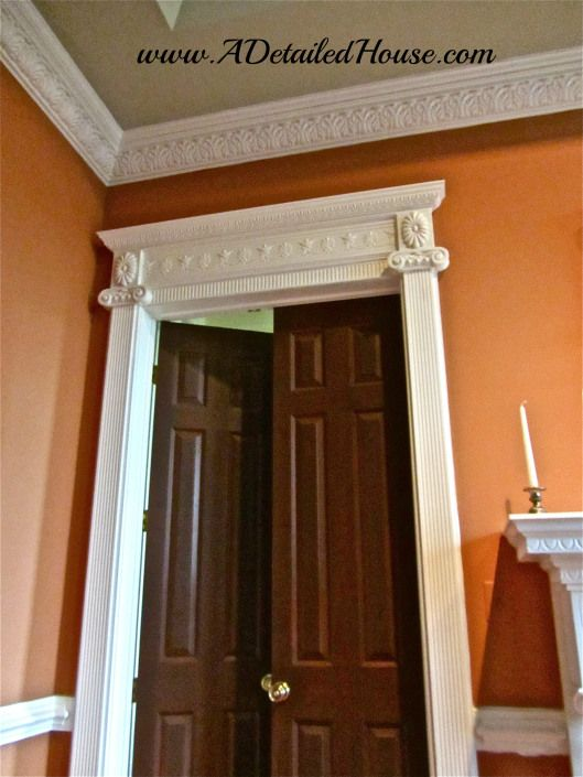 Genial DIY Pilaster Framing Around Door Frame.