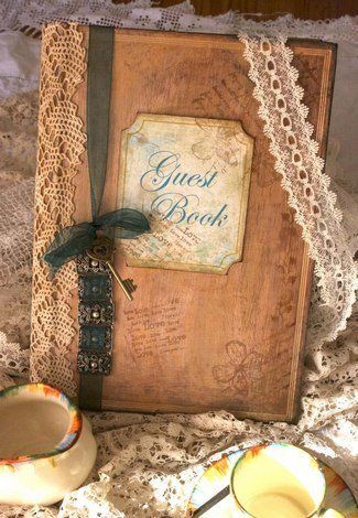 Vintage Inspired Guest Book