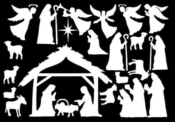 Nativity Window Clings Reusable Manger Scene Window