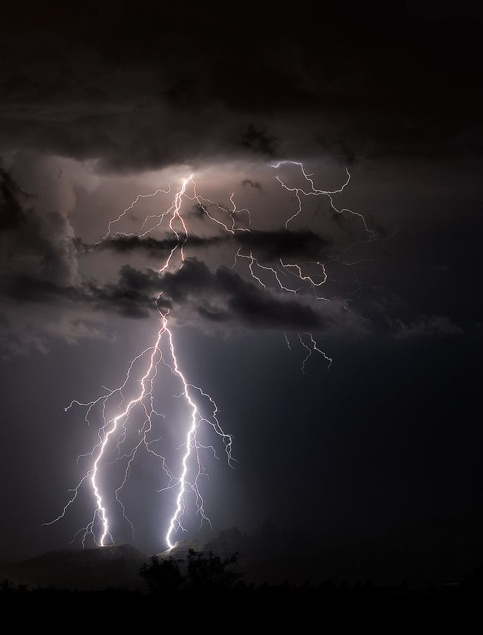 lightning in the catalinas by scott wood a lighting strike in the