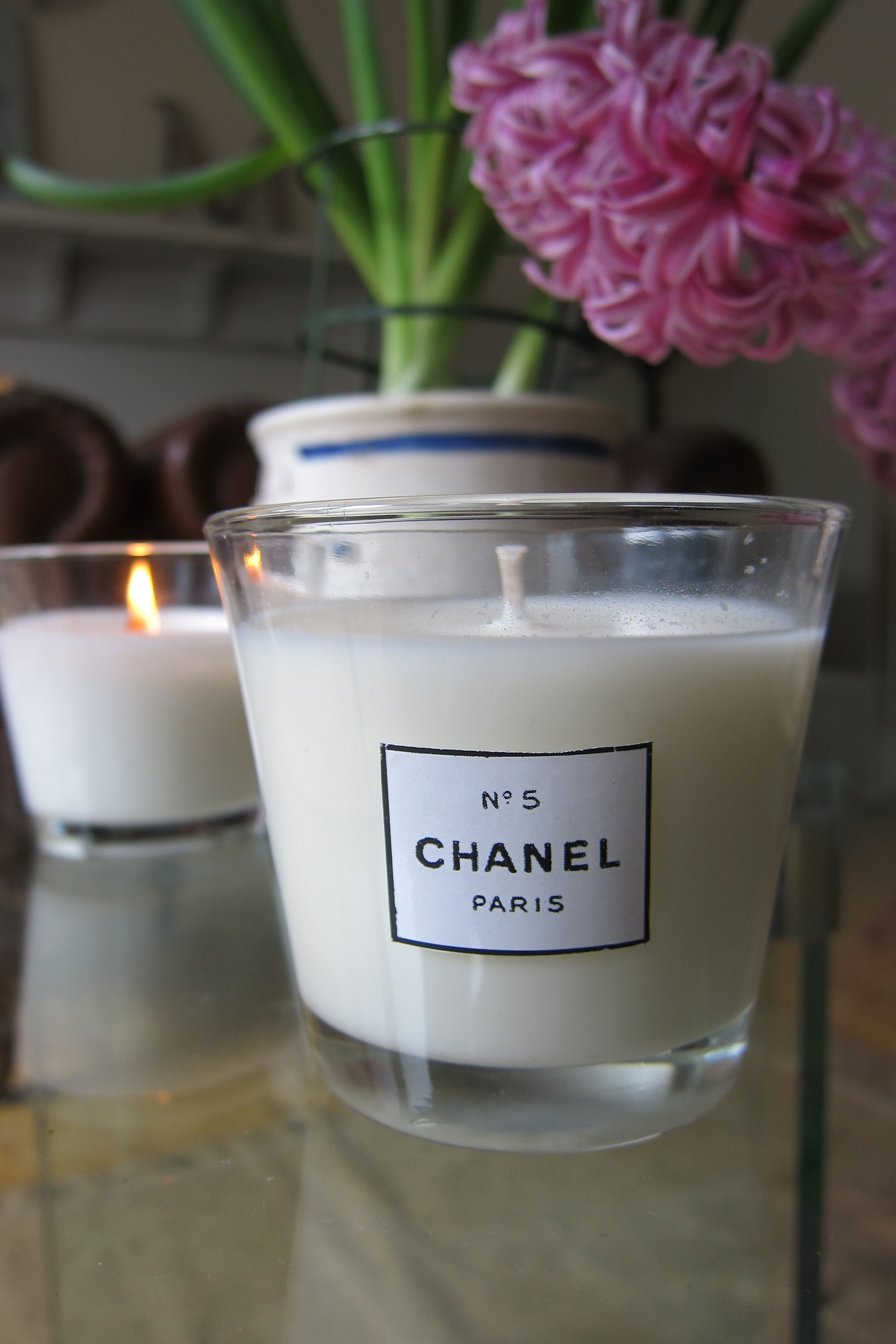 Diy candles i made my own including one with chanel no candle