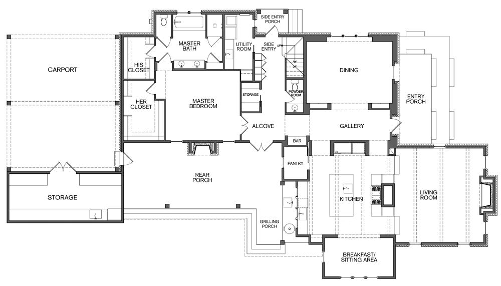 All In The Family Floor Plans House Floor Plans Brick House Plans