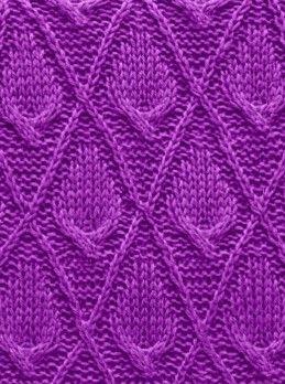 Modèle de câble en diamant # modèle de tricot …   – strickmuster