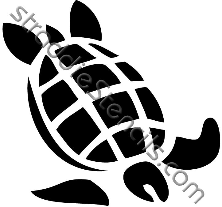Turtle pumpkin carving stencil