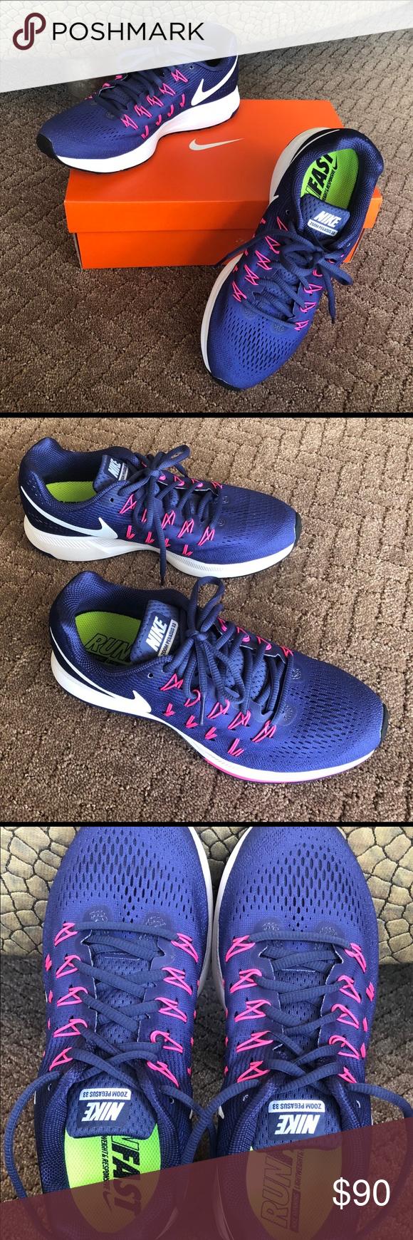 Araña de tela en embudo Apretar Confesión  🆕 NIKE Air Zoom Pegasus 33 Women's Running Size 9 | Nike air zoom pegasus,  Pink running shoes, Air zoom
