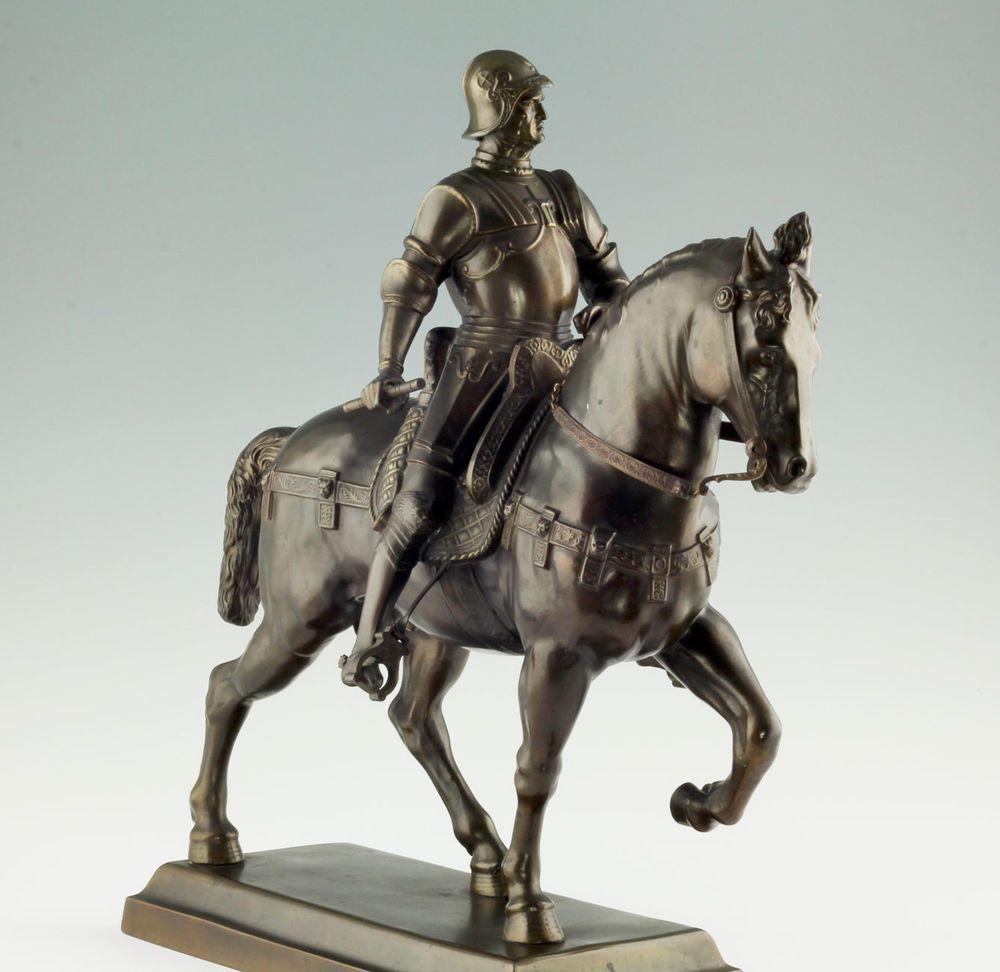 Großes Reiter standbild Bartolomeo Colleoni Andrea Verrocchio 1900 ...
