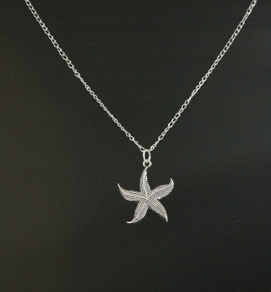 Necklaceantique silver starfish necklace chain by marryterry, $2.39