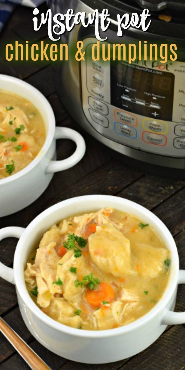 EASY Instant Pot Chicken and Dumplings Recipe #instantpotrecipes