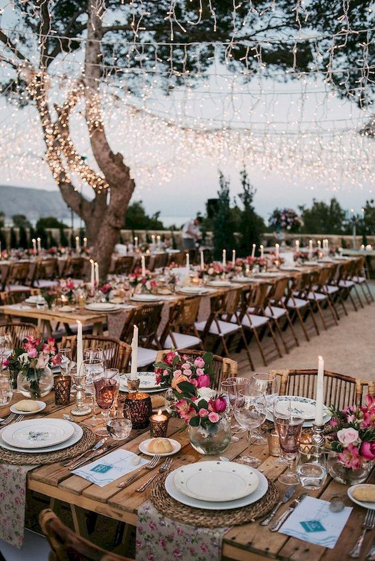 Best Garden Wedding Design Ideas And Decor (9) - watonmuni.com | Wedding  reception lighting, Wedding lights, Wedding reception decorations
